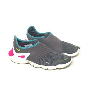 Nike Free RN Flyknit 3.0 Gray/Pink Sz- 8.5